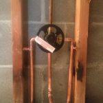 New moen tub and shower valve