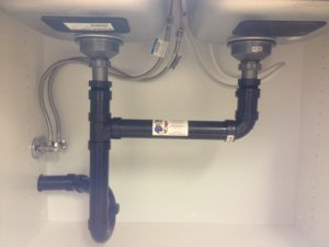 Sink installation ABS pipe