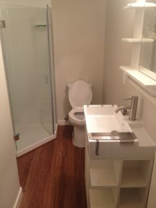 finished small bathroom renovation