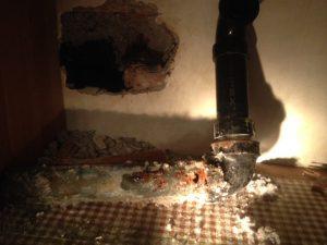 Repair of rotten sink drain (3)
