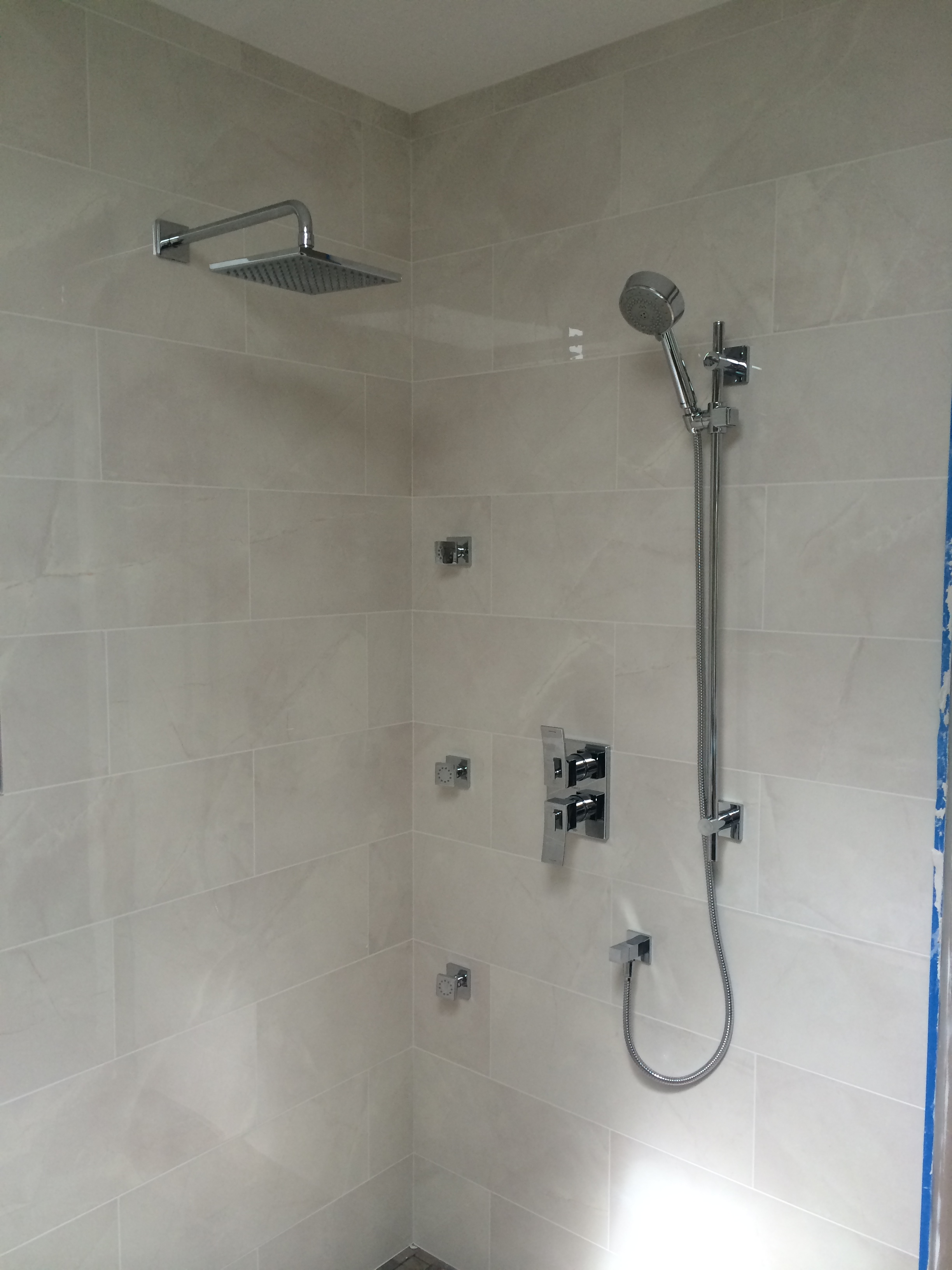 plumbing riobel showers installed body finish shower ltd chrome rain drains and callaway spray