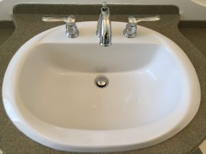 American standard basin with Grohe faucet