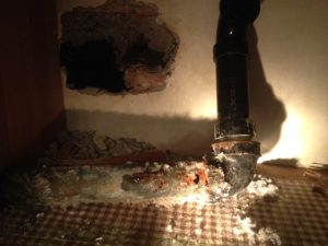 Repair of rotten sink drain (3)
